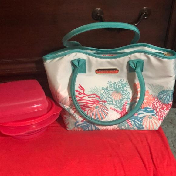Ladies Tupperware lunch bag Three piece set